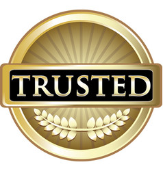 Trusted gold icon vector