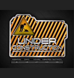 under construction board with work in progress sig vector image