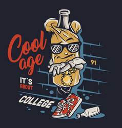 vintage college colorful concept vector image