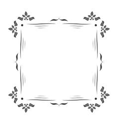 Vintage frame decoration vector image