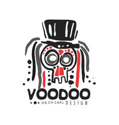 Voodoo african and american magic logo skull vector