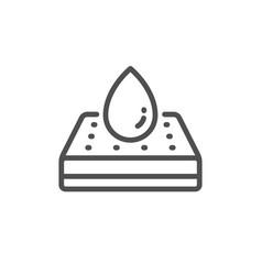 Waterpromattress protector line icon vector