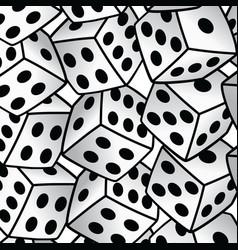 White dice risk taker gamble art background vector