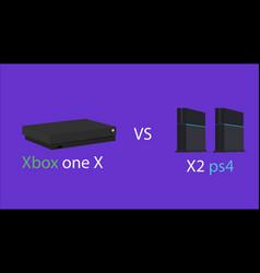 Xbox one x vs ps4 vector