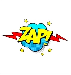 Zap sound effect vector image