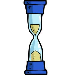 cartoon doodle hourglass vector image vector image