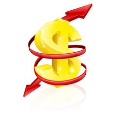 dollar exchange rate concept vector image