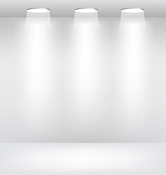 Empty Showcase Stage with Lights vector image vector image