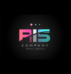 ris r i s three letter logo icon design vector image