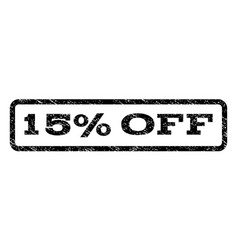 15 percent off watermark stamp vector image