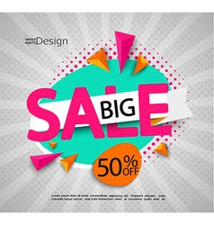 Big sale - bright modern banner vector image vector image
