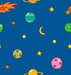 cartoon space pattern vector image