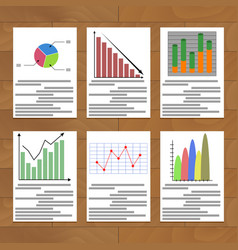 chart and graph collection vector image