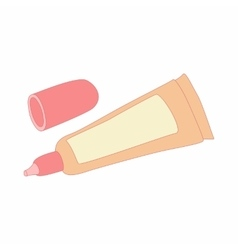 liquid makeup foundation in a tube icon vector image
