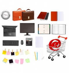 super mega set business elements vector image vector image