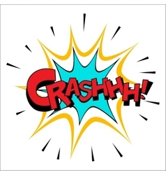 Crash sound effect vector image
