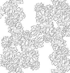 daisy bouquet pattern vector image vector image