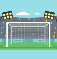 football gate icon flat style vector image