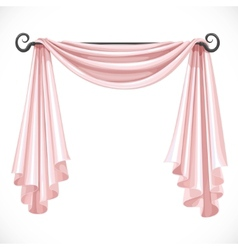 Pink curtains on the ledge forged isolated on a vector image vector image