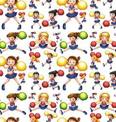 Seamless cheerleadings vector image