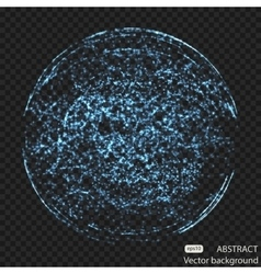 Abstract mesh spheres Futuristic technology low vector image vector image