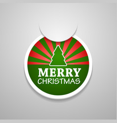 Circle attach merry christmas sticker vector image vector image