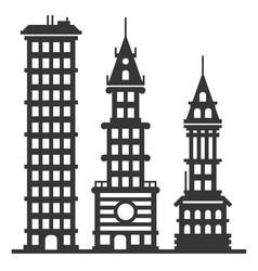 city modern skyscraper buildings set vector image vector image