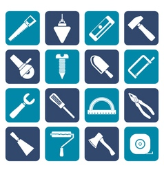 Flat Construction and Building Tools icons vector image vector image