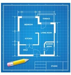 furniture architect blueprint background vector image