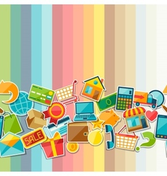 Internet shopping seamless pattern vector image vector image