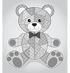 Old bear toy vector image