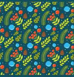 seamless pattern with the image of branches and vector image