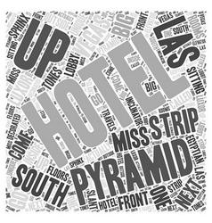 South Strip of Las Vegas Word Cloud Concept vector image