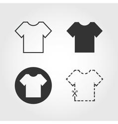 t shirt icons set flat design vector image vector image
