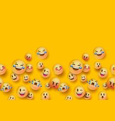 3d fun emoji icon seamless pattern background vector image