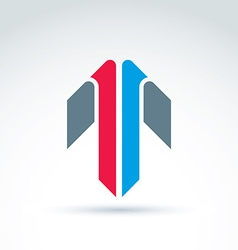 Abstract emblem with colorful arrow up direction vector