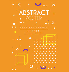 abstract poster orange bright placard template vector image