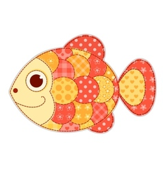 Application fish isolated vector image