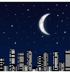 background night sky vector image