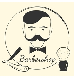 Barber with barber tools vector image