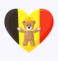 Belgian Royal Teddy Bear vector
