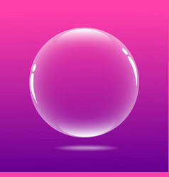 Big bubble with pink color vector