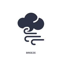 Breeze icon on white background simple element vector