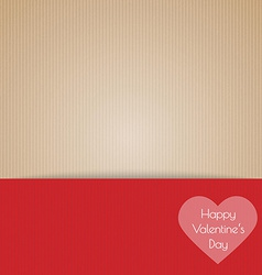 Brown cardboard with happy valentines day vector