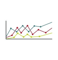 Business charts icon flat style vector image