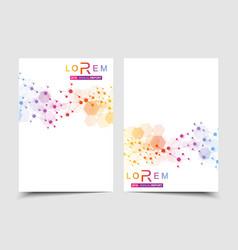 Business templates brochure magazine leaflet vector