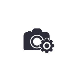 camera service icon vector image