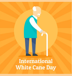 cane day concept background flat style vector image