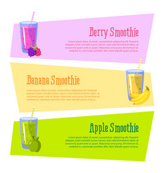 Cards with space for your text smoothies benefits vector