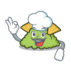 Chef guacamole character cartoon style vector